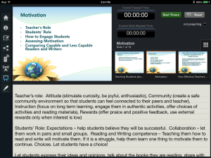 Here it is on the teacher/iPad view with notes. Just tap the slides to advance to the next one.